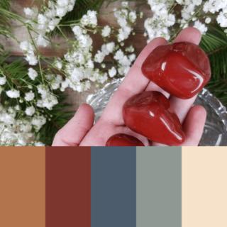 Diaspro rosso palette colore
